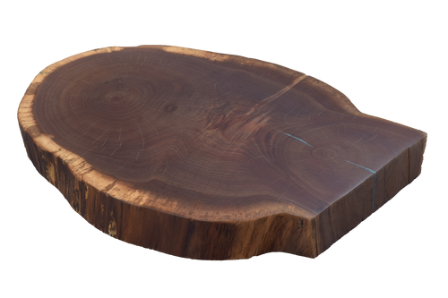 Walnut Live Edge Round #468