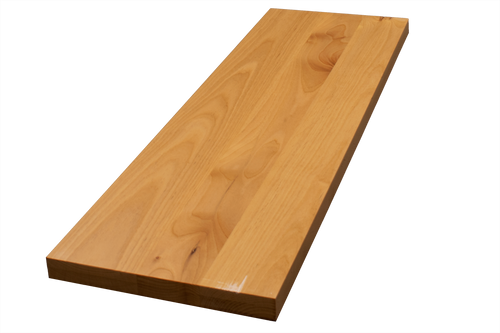 Clear Alder Wide Plank (Face Grain) Floating Stair Tread #484