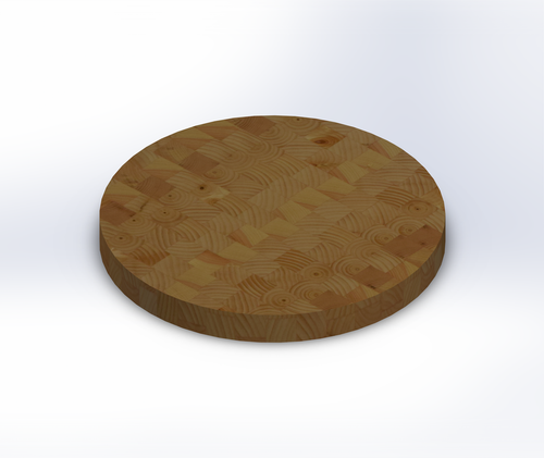 Round Knotty Pine End Grain Butcher Block Table Top
