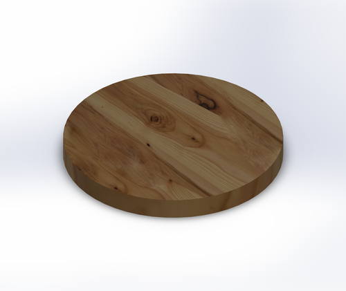 Round Rustic Hickory Wide Plank (Face Grain) Table Top