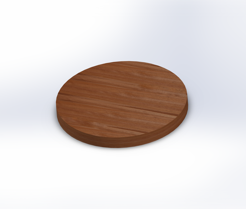 Round African Mahogany Wide Plank (Face Grain) Table Top