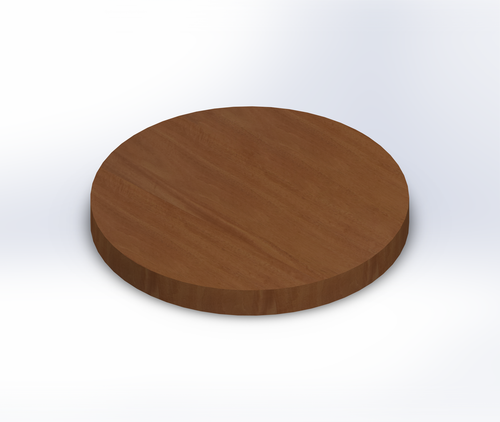 Round Genuine Mahogany Wide Plank (Face Grain) Table Top