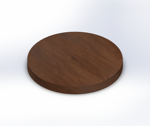 Round Sapele Wide Plank (Face Grain) Table Top