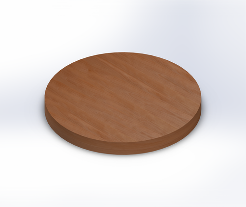 Round Birch Wide Plank (Face Grain) Table Top