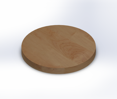 Round Rustic Maple Wide Plank (Face Grain) Table Top