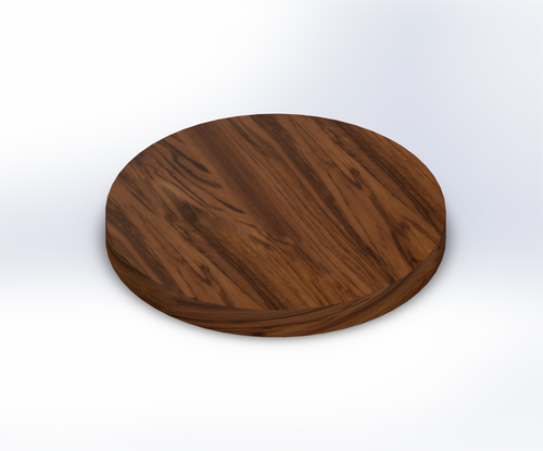 Round Zebrawood Wide Plank (Face Grain) Table Top