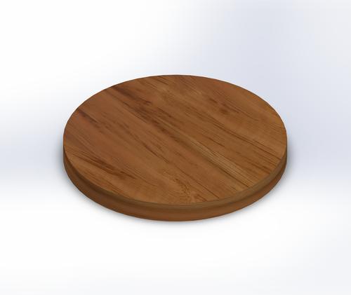 Round Burmese Teak Wide Plank (Face Grain) Table Top