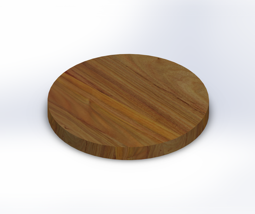 Round Canarywood Wide Plank (Face Grain) Table Top