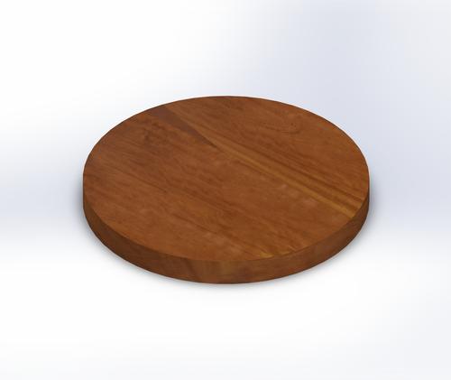 Round Iroko Wide Plank (Face Grain) Table Top
