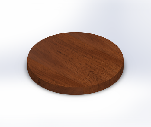 Round Makore Wide Plank (Face Grain) Table Top