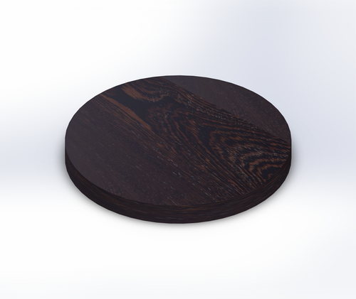 Round Wenge Wide Plank (Face Grain) Table Top