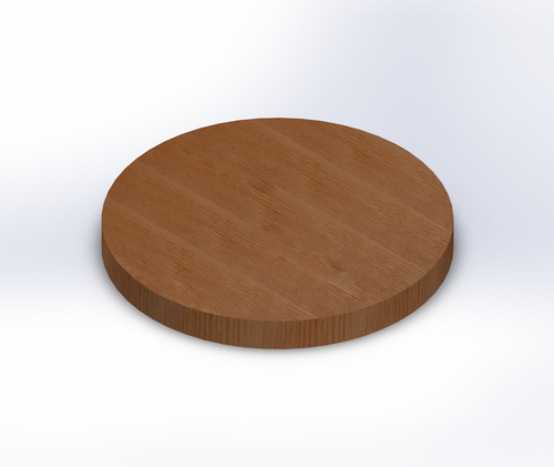 Round Quarter Sawn Red Oak Wide Plank (Face Grain) Table Top