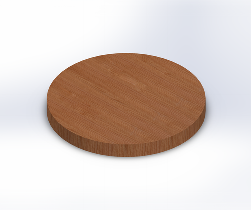 Round Rift Sawn Red Oak Wide Plank (Face Grain) Table Top