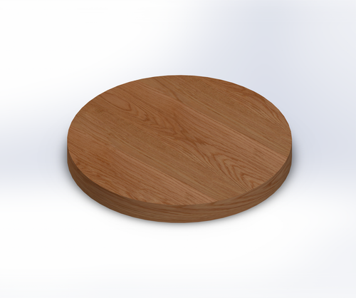 Round Red Oak Wide Plank (Face Grain) Table Top