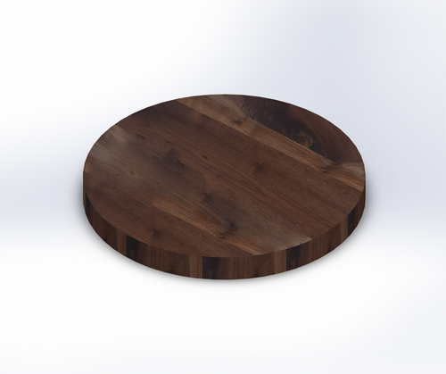 Round Rustic Walnut Wide Plank (Face Grain) Table Top