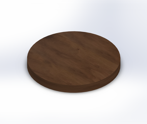 Round Steamed Walnut Wide Plank (Face Grain) Table Top