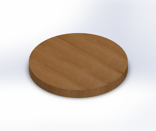 Round Quarter Sawn White Oak Wide Plank (Face Grain) Table Top