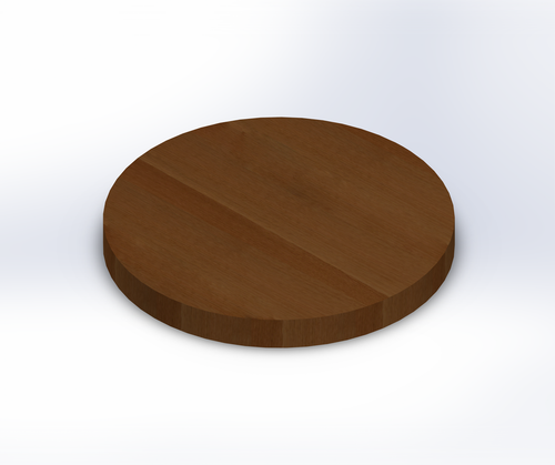 Round Rift Sawn White Oak Wide Plank (Face Grain) Table Top