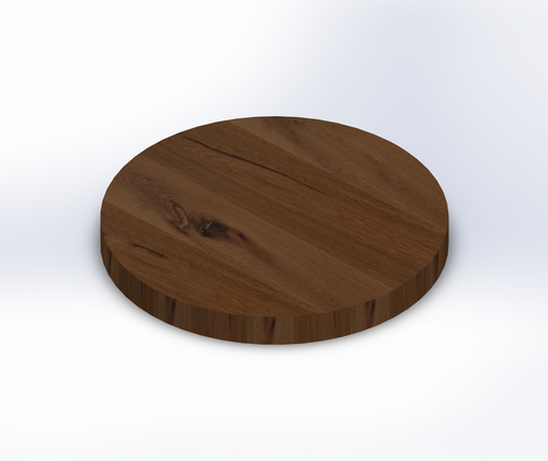Round Rustic White Oak Wide Plank (Face Grain) Table Top