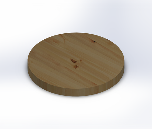 Round Knotty Pine Edge Grain Butcher Block Table Top