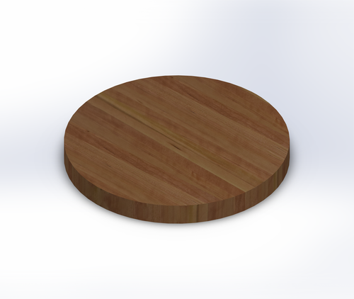 Round Character Cherry Edge Grain Butcher Block Table Top