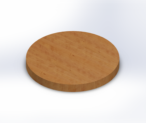 Round Clear Cherry Edge Grain Butcher Block Table Top