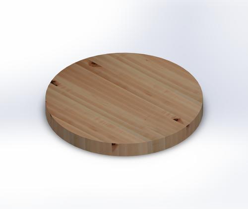Round Rustic Maple Edge Grain Butcher Block Table Top