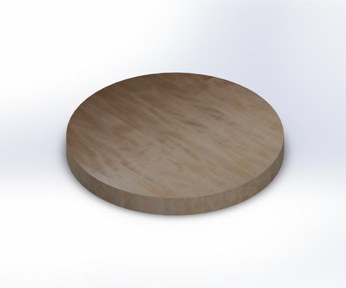 Round Soft Maple Edge Grain Butcher Block Table Top