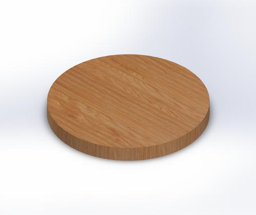 Round Quarter Sawn Red Oak Edge Grain Butcher Block Table Top