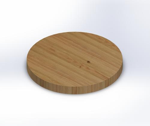 Round Rift Sawn Red Oak Edge Grain Butcher Block Table Top