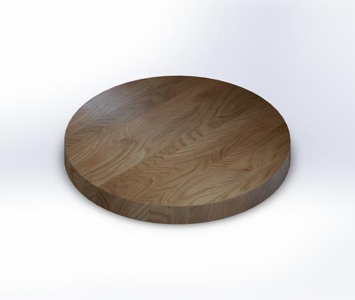 Round Quarter Sawn White Oak Edge Grain Butcher Block Table Top