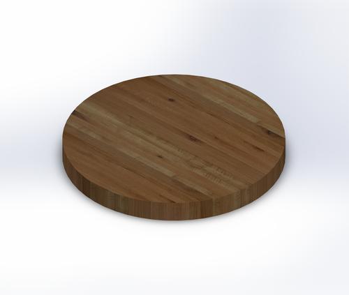Round Rustic White Oak Edge Grain Table Top