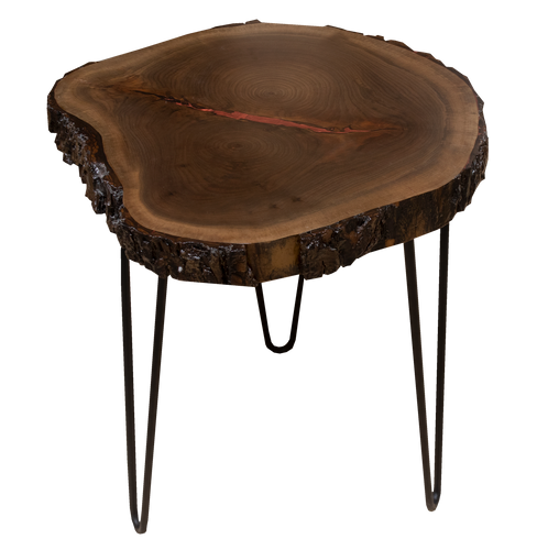 Round Live Edge End Table 3