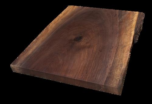 "Walnut Live Edge Cutting Board #122 (.75""-12.5""-12"")"