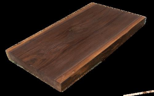 "Walnut Live Edge Cutting Board #157 (1.25""-11.5""-15.75"")"