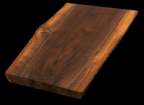 "Walnut Live Edge Cutting Board #168 (1.25""-12.25""-16"")"