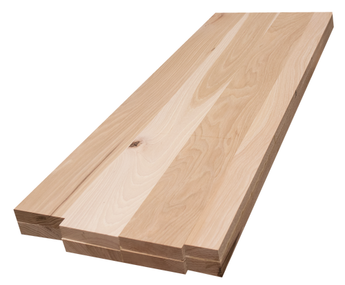 """Rustic Hickory Wide Plank (Face Grain) Countertop #73(2""""-13""""-38.75"""")"""