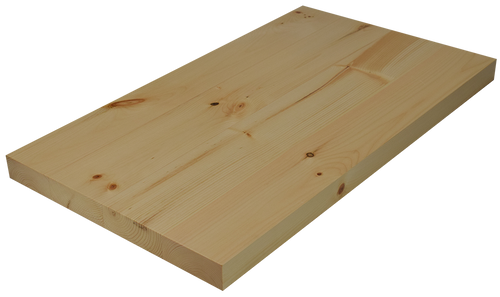 Knotty Pine Wide Plank Face Grain Countertop Hardwood
