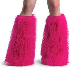 Hot Pink Faux Fur Leg Warmers