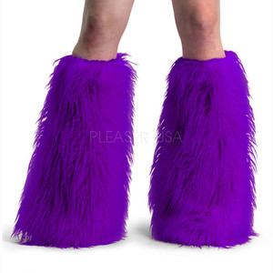 Purple Faux Fur Leg Warmers