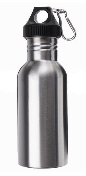 Silver Stainless Steel 750ml Water Bottle