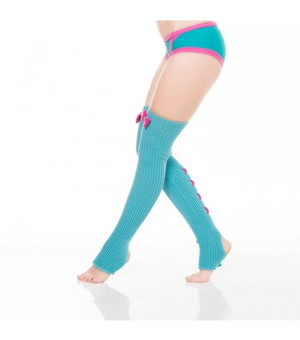 Turquoise & Hot Pink Acrylic Leg Warmers 1