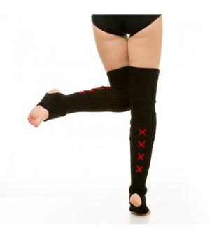 Black & Red Acrylic Leg Warmers 1