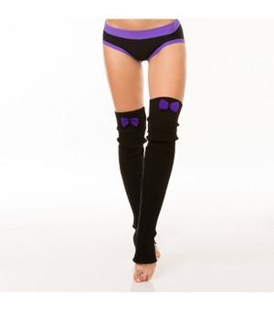 Black & Purple Acrylic Leg Warmers 1