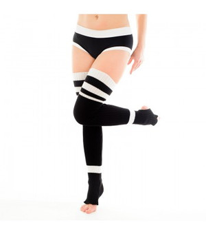Black & White Acrylic Leg Warmers 1