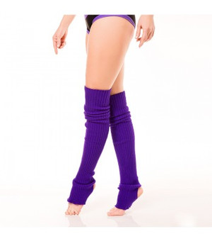 Purple Acrylic Leg Warmers 1