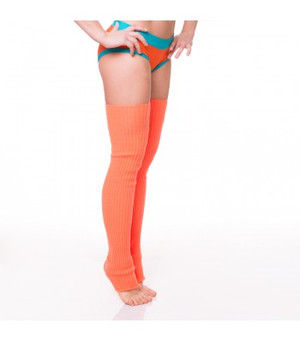 Orange Acrylic Leg Warmers 1
