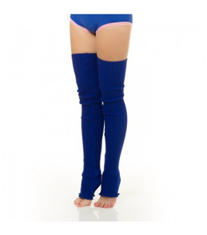 Electric Blue Acrylic Leg Warmers 1
