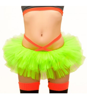Neon Yellow Tulle Tutu -2