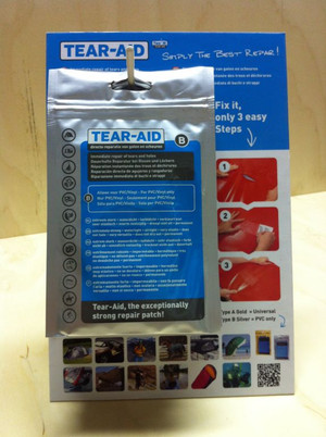 Tear Aid PVC and Vinyl Quick Fix Repair Kit - Type B